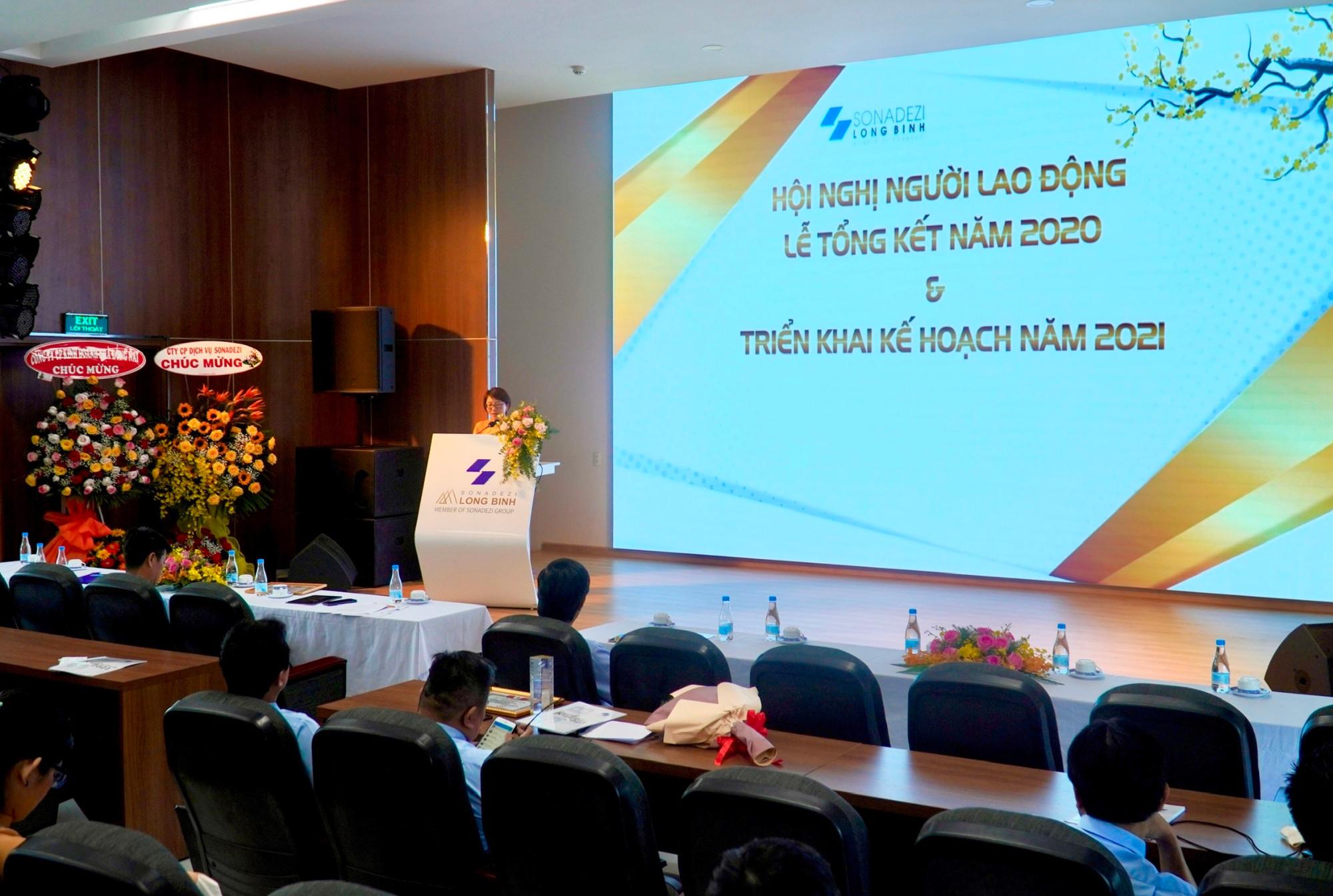 Hội nghị người lao động & Triển khai kế hoạch năm 2021 của Công ty CP Sonadezi Long Bình